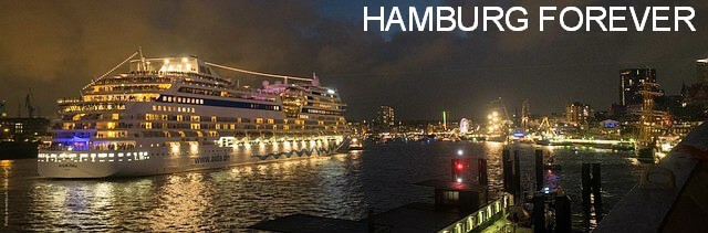 hamburg port after dark
