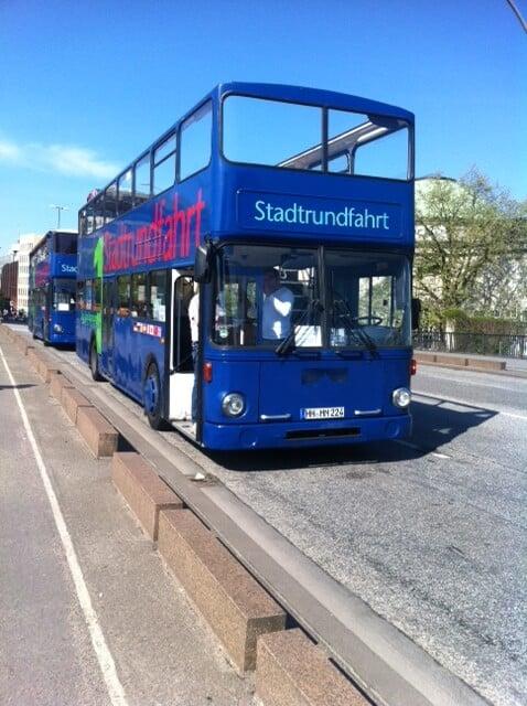 blaue linie busrundfahrt