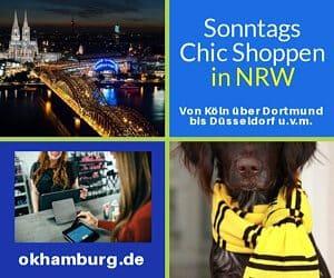 Sonntags Shoppen NRW